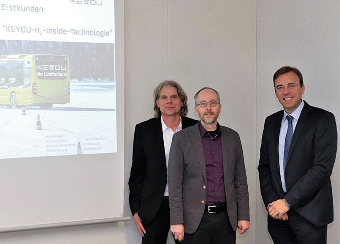 Foto von Thomas Korn (links), Matthias Gastel (mitte) und Bernd Nagel (rechts)